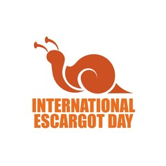 International escargot day. Vector illustration. Great for greeting card
