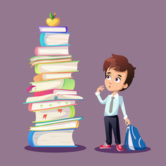 Schoolboy concept illustration