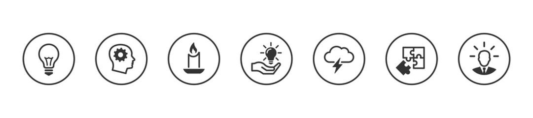 Obraz Idea icons set - fototapety do salonu