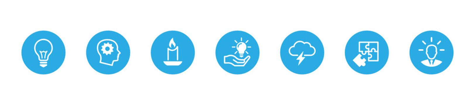 Idea icons set