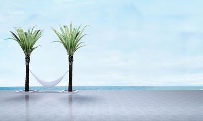 3D render outdoor bed