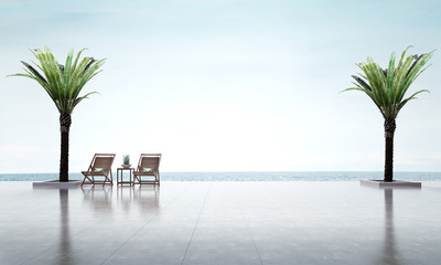 3D render vacation sea view