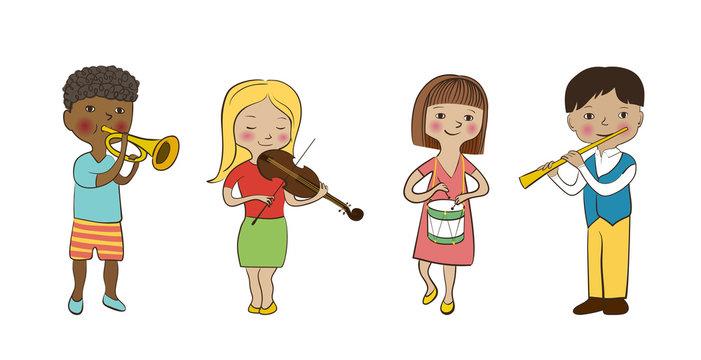 Musician children set