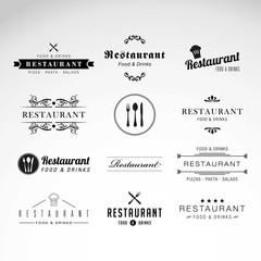 Restaurant logos collection