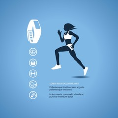 Fitness tracker with runner silhouette