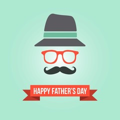 Father's day hipster card template