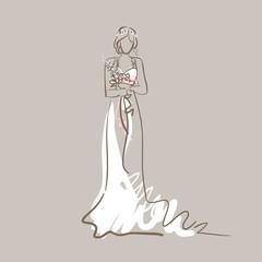 Bride silhouette