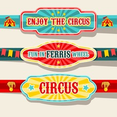 Circus banners design