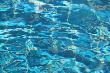 Blue background from water in swimming pool