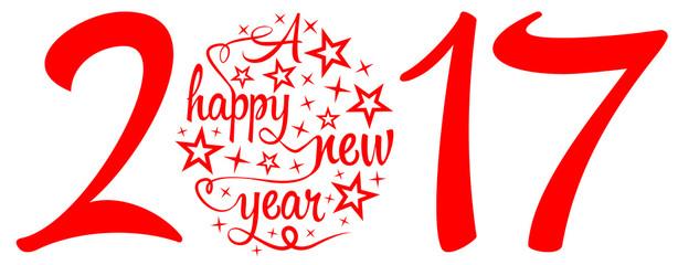 Happy new year 2017 Fotomurales