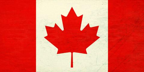 Flag Of Canada Grunge