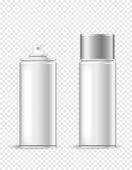white isolated spray can