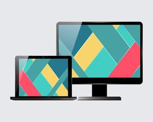 Laptop monitor set