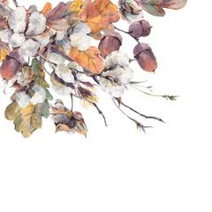 Watercolor autumn vintage bouquet