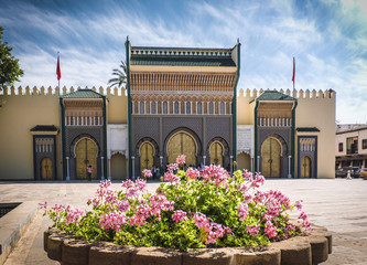 The entrance to the old Royal Palace in Fez (Fes), Morocco
