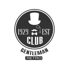 Retro Gentleman Club Label Design