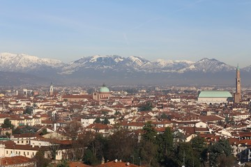 Vicenza, Italy, skyline of the city with Basilica Palladiana and