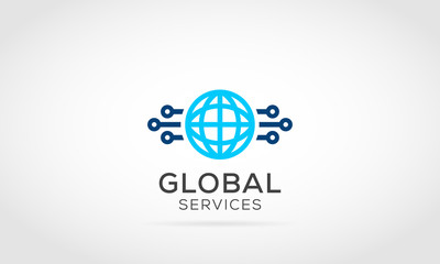 Connecting Globe Logo