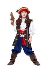 Printed kitchen splashbacks Knights Little boy dressed as medieval pirate