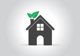 Ecology  house icon.