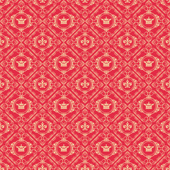 Seamless Pattern Royal
