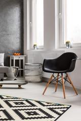 Black aerodynamic armchair