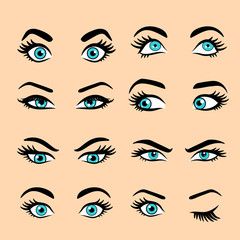 Set of cartoon eyes 2.