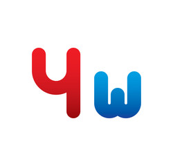 4w logo initial blue and red