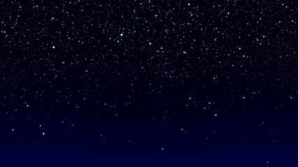 dark blue sky with bright twinkling stars