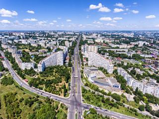 The City Gates of Chisinau, Republic of Moldova, Aerial view fro