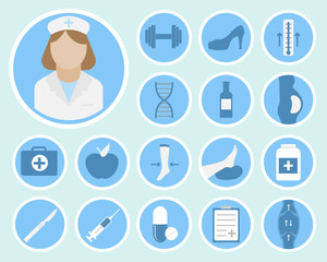 phlebology vector icons
