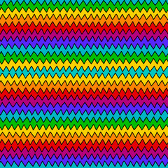 rainbow hand drawn zig zag seamless backgrownd
