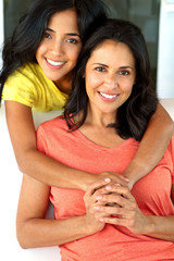 Hispanic Mother and Teenage Daughter