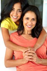 Hispanic Mother and Teenage Daughter