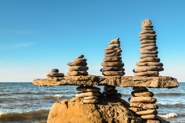 Stacks of pebbles
