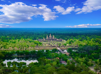 Aerial view of Angkor Wat Temple, Siem Reap, Cambodia