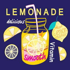 Graphic bright lemonade