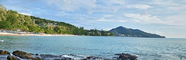 Panorama of tropical coast