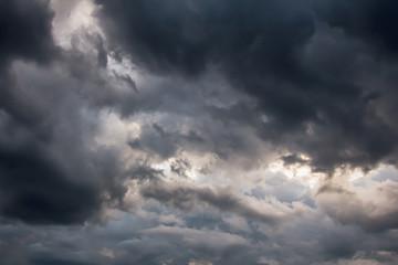 Beautiful storm sky with dark clouds, apocalypse