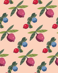 Berry pattern. Vector illustration