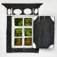 Old window - Ukrainian village style