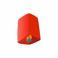 Chinese lantern icon in cartoon style isolated on white background. Illumination symbol