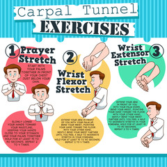 Carpal Tunnel Exercises infographic