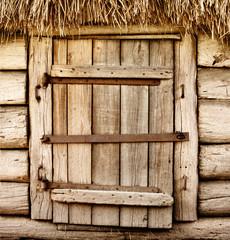 Old wooden rustic door
