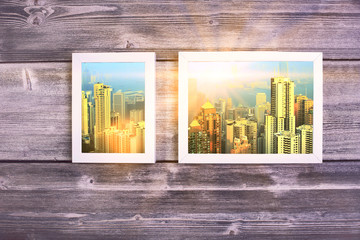 City pictures in frames