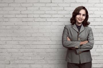 Success asian business woman smiling