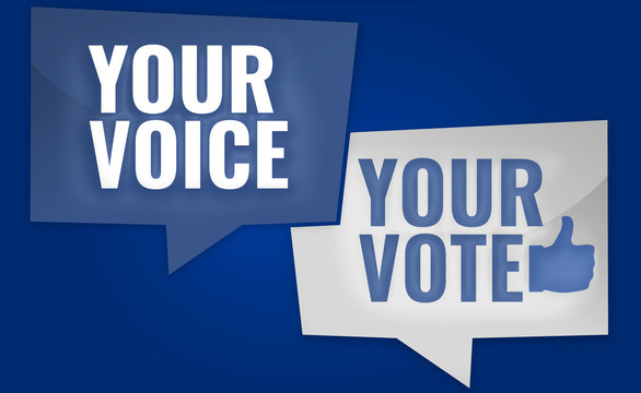 Your Voice Your Vote  3D Render USA Design