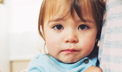 Crying toddler girl