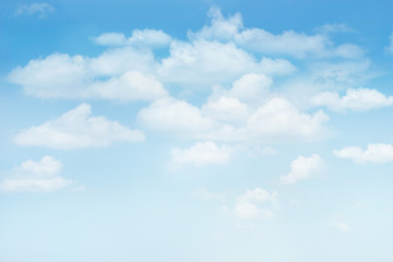 Blue sky with clouds for background, blank text