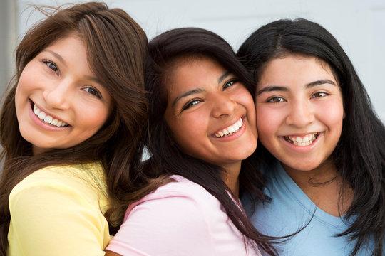 Young Hispanic Teenage Girls